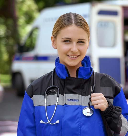 une équipe d'ambulanciers diplômés d'État Le havre